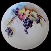 Vintage Bavarian Cabinet Plate Hand Painted Grapes
