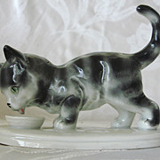 Vintage Grafenthal Germany Figure of a Kitten / Cat with Cream
