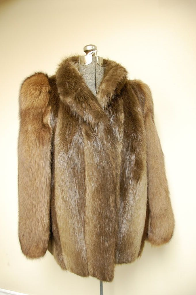 Cheap New Mens Bergama Natural Feathered Raccoon Fur Bomber Jacket - 46 XL