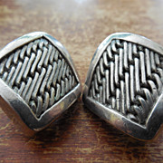 Lois Hill Sterling SIlver Earrings - Weave Design