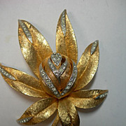 Gorgeous Dimensional Corocraft Flower Brooch