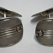 Beautiful Art Deco Era Cuff Links in 835 Silver