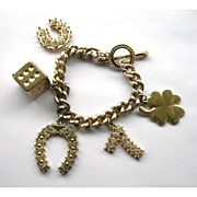 Vintage Lucky Charm Bracelet - Perfect Casino Wear