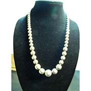 Gorgeous Sterling Silver Necklace with Graduating Size Balls