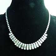 Signed Weiss Rhinestone Necklace - Perfect for Wedding or Prom!