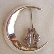 SALE Lang Sterling Dutch Couple Kissing Under the Moon