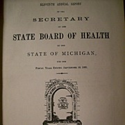 11th Annual Report-State Board of Health-Michigan ~ c. 1884