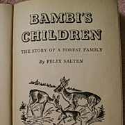 BAMBI'S CHILDREN~The Story of a Forest Family  (c.1939) (hard cover)
