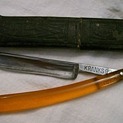 SOLD Straight Razor ~ KRANKS 99 ~ made in Germany
