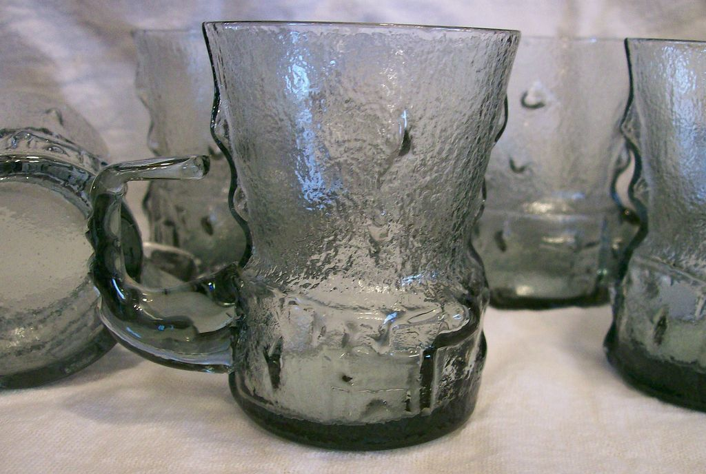 Smoke Glass Cordials ~ set of 5+