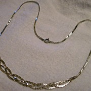 SOLD .925 Sterling Silver Necklace ~ Braided Chain ~ (1972)