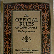 The Official Rules of Card Games ~ HOYLE up-to-date ~ 1926