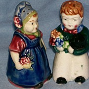 Salt , Pepper Shaker ~ Figural ~ Wedding Couple ~ Scandinavian