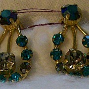 Rhinestone Earrings ~ Austria ~ Clip on