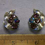 LISNER ~ Rhinestones ~ Clip On Earrings