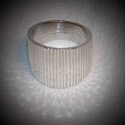 .925 Sterling Silver Modernist Ring ~ Size 5 ~ Mexico