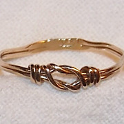 14k Gold Wire Ring ~ Size 4