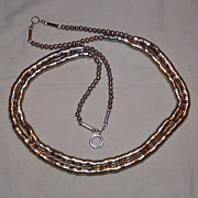Brass Necklace - 2 Strand - c. 1970's
