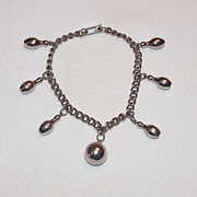 Bowling Theme Charm Bracelet - 7 inches - early 1970's