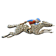 Enamel Jockey on a Diamond Race Horse