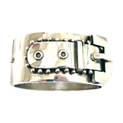 Buckle Me Up--English Victorian Sterling Bracelet