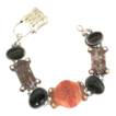 Victorian Scottish Silver  & Agate Bracelet