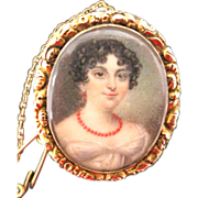 Georgian Portrait Miniature--A Tiny Work Of Art