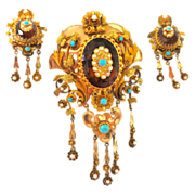 Astounding Victorian Treasure--Brooch & Earring Set
