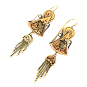 Victorian Tassel Earrings With Taille de Eperne Accents
