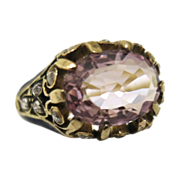 Luscious Edwardian Spinel & Diamond Ring