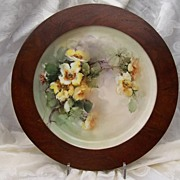 "SALE Old Master's Hand-Painted Haviland Limoges France Charger Plaque ""Yellow China Roses"