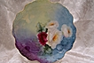 "Limoges France Hand-painted Porcelain Plate featuring ""A Rainbow of Romantic English Tea Roses""!"
