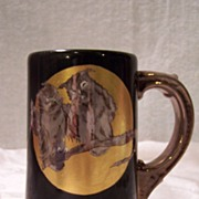 Extraordinary Bronze, Sterling Silver, and Coin Gold Enameled Limoges Antique Tankard (Mug, ..