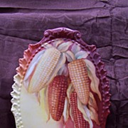 "Rare Mold! Wonderfully Handpainted Coiffe Limoges 'Summer Corn"" Plaque Charger"