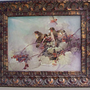 "SALE PENDING 15"" Large Limoges Plaque- Old Master's Hand-Painted Vintage France Tile """