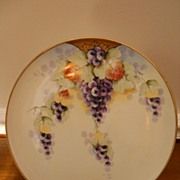 Hand Painted Flat Chop Plate by the Renown Donath Studio Artist 'Peplow' ~ Fantastic Limoges C