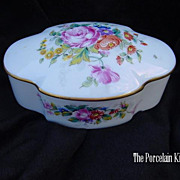 Limoges Goebel porcelain dresser box artist signed