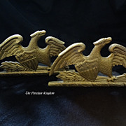 1952 Vintage Virginia Metalcrafters Spread Eagle Bookends