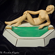 Art Deco nude bathing beauty ashtray  tobacciana