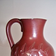 SALE Rookwood 1883 Pitcher Artist Signed by Nettie Wilson
