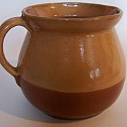 SALE Cabin Art Pitcher from North Carolina.