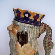 "SALE Colorful Staffordshire ""Father Neptune"" Character Jug"