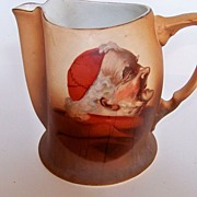 SALE Colorful Warwick Pitcher with Monk