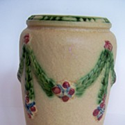 "SOLD Roseville 8"" LaRose Vase - Red Tag Sale Item"