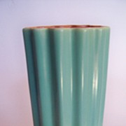 SALE Tall Catalina Pottery Ribbed Vase