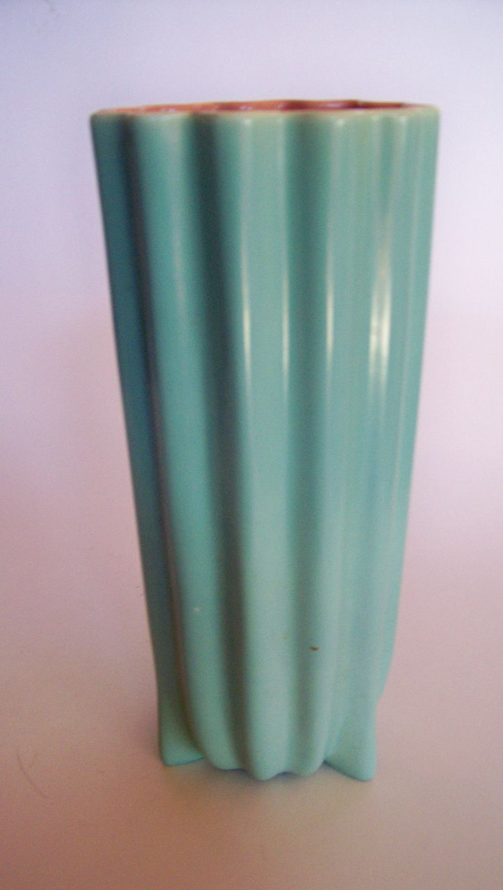 Tall Catalina Pottery Ribbed Vase