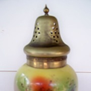 SALE Beautiful Hand Painted Bohemian Sugar Shaker