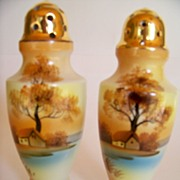 SALE Pair of Noritake Tree in the Meadow Berry Shakers