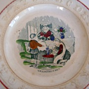 SALE ABC Plate: Grandmother