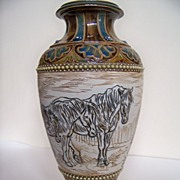 SALE Large Doulton Vase by Hannah Barlow